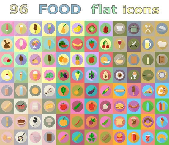 mat platt ikoner vektor illustration