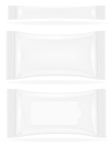 vit förseglad väska packning vektor illustration