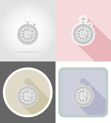 stopwatch platt ikoner vektor illustration