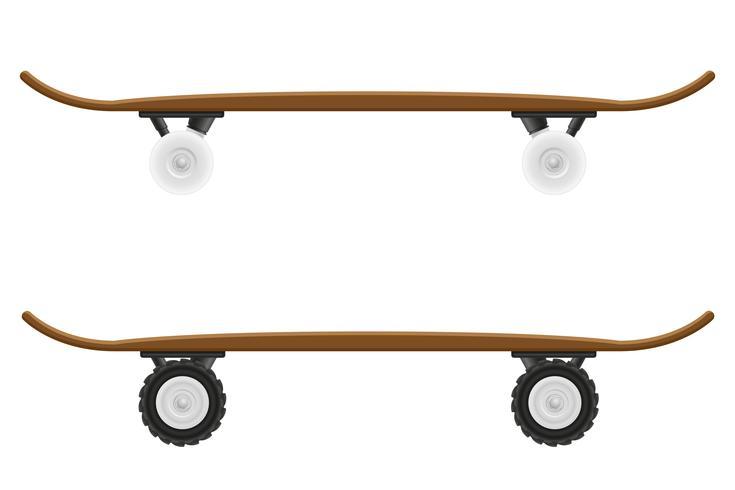 Skateboard-Vektor-Illustration vektor