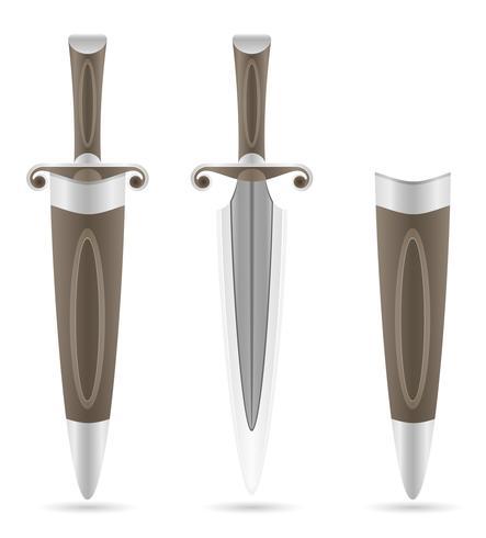 strid dagger medeltida lager vektor illustration
