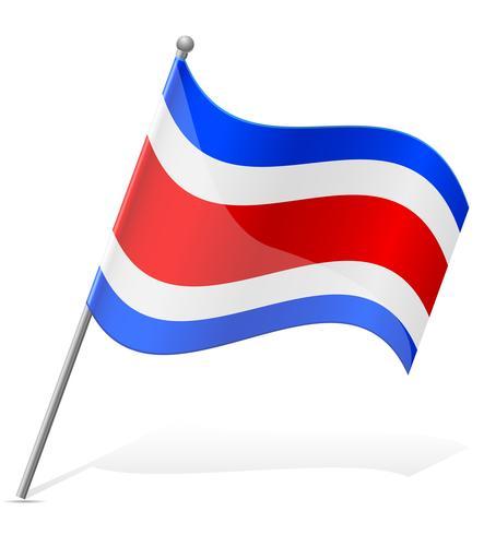 Flagge der Costa Rica-Vektorillustration vektor