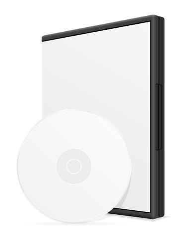 cd och dvd bisk låda fall packning vektor illustration