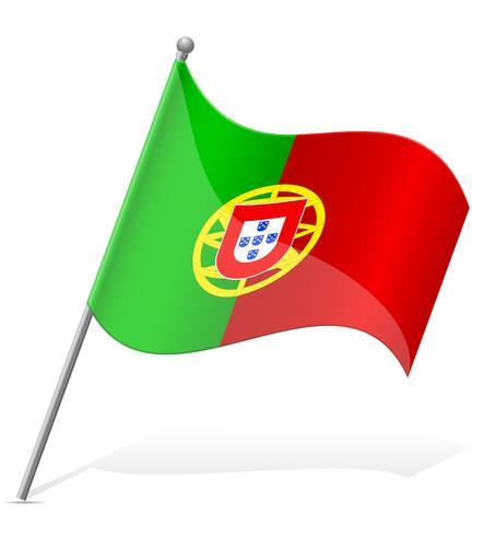 Portugal flagg vektor illustration