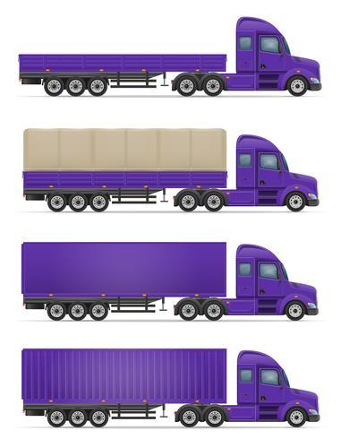 LKW halb Anhänger für den Transport von Waren Vektor-Illustration vektor