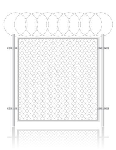 stängsel gjorda av trådnät vektor illustration