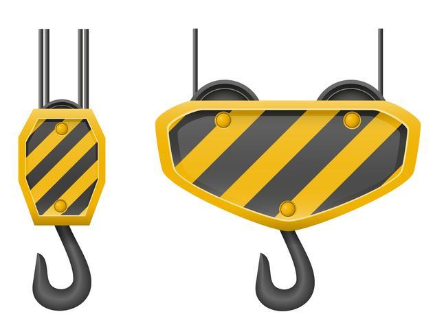 krok kran för att bygga vektor illustration