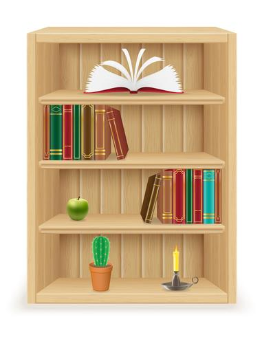 Bücherregalmöbel gemacht von der hölzernen Vektorillustration vektor