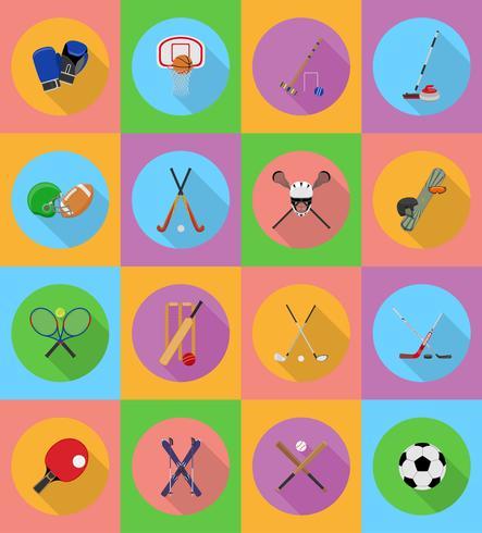 flache Ikonenillustration der Sportausrüstung vektor