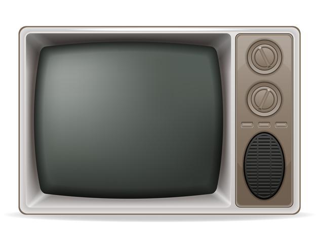 tv gammal retro vintage ikon lager vektor illustration