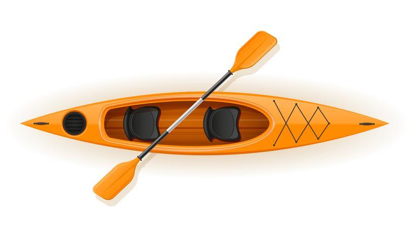kajak från plast för fiske och turism vektor illustration