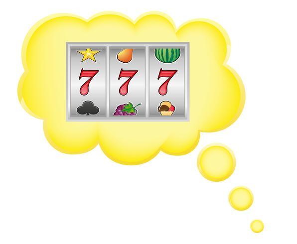 begrepp dröm ett kasino jackpot i moln vektor illustration