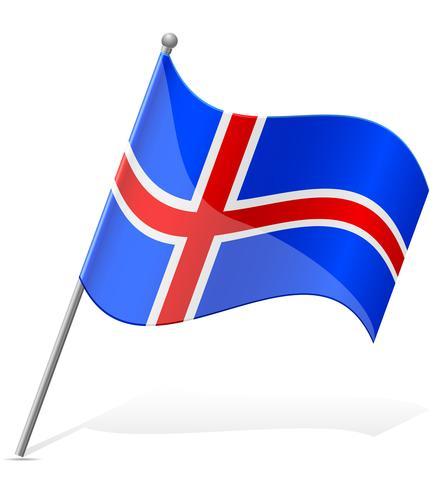 Flagga av Island vektor illustration