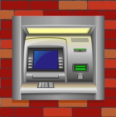 ATM auf einer Mauer vektor
