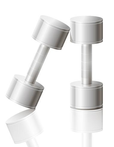 Hanteltrainings für Sportvektorillustration ENV 10 vektor