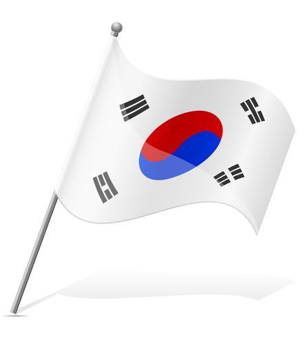 flagga av Sydkorea vektor illustration