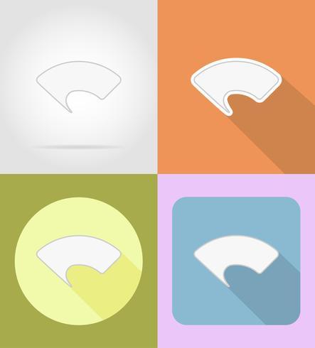 speech bubblar platt ikoner vektor illustration