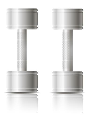 Hanteltrainings für Sportvektorillustration vektor
