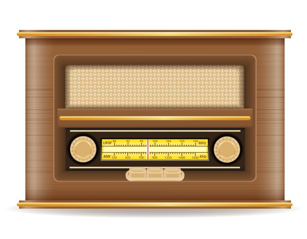 Weinleseikonenvorrat-Vektorillustration des Radios alte Retro vektor
