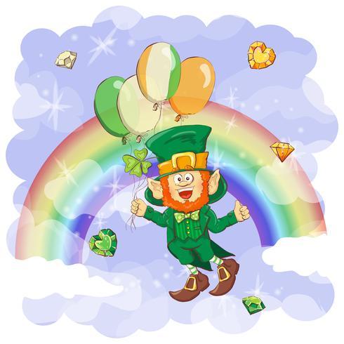 Vektor Glad Saint Patrick s dag hälsningskort