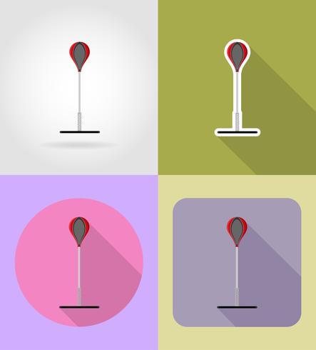 Boxsack für das Boxen von flachen Icons Vektor-Illustration vektor