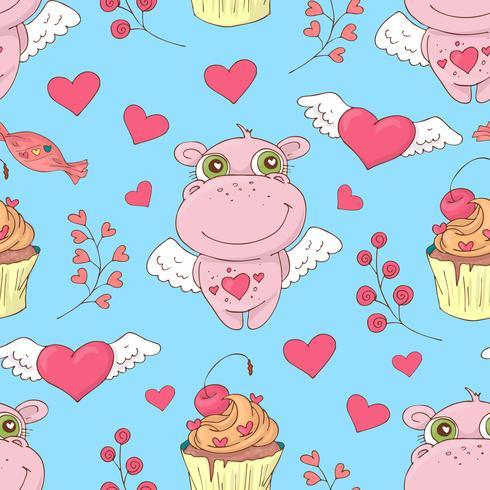 Valentinstag nahtlose Muster. Set Liebe und romantische Hintergründe vektor