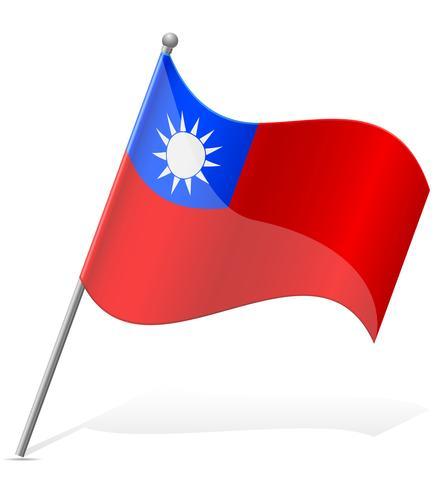 flagga av Taiwan vektor illustration