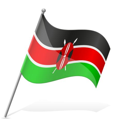 flagga av kenya vektor illustration