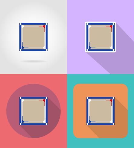 boxning ring platt ikoner vektor illustration