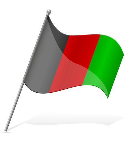 Flagge der Afghanistan-Vektor-Illustration vektor