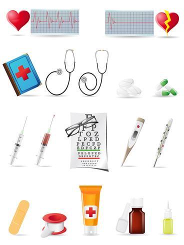 ikon medicinsk uppsättning vektor