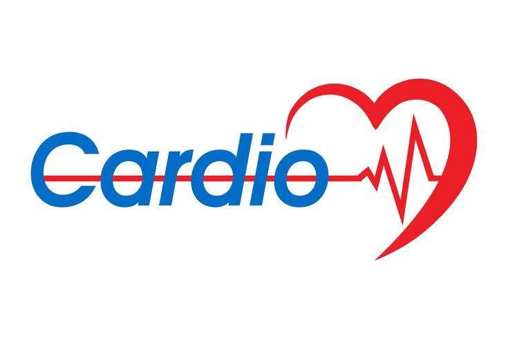 logotyp för en hjärtklinik vektor illustration