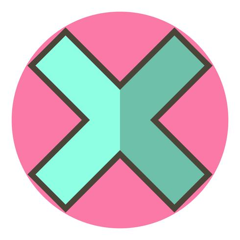 Avbryt Icon Design vektor