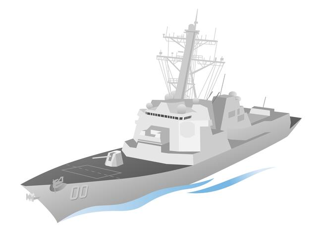 Naval militär krigsfartyg vektorgrafik vektor
