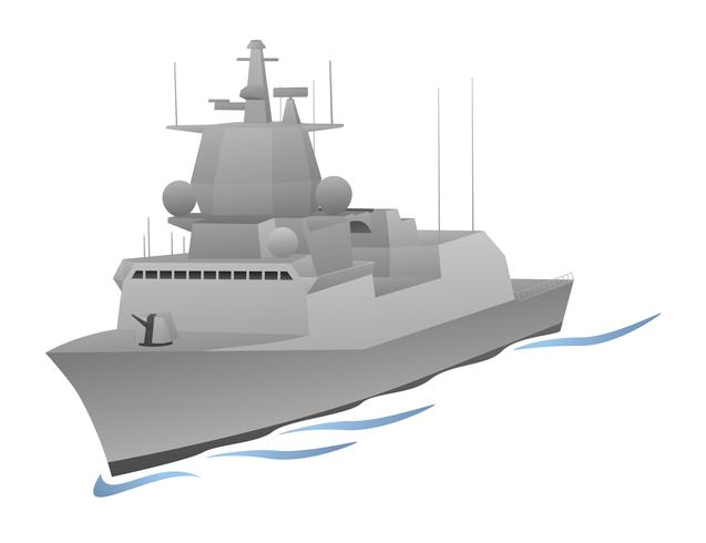 Naval krigsfartyg vektor grafik