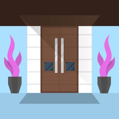 Plana minimalistiska dörrar vektor
