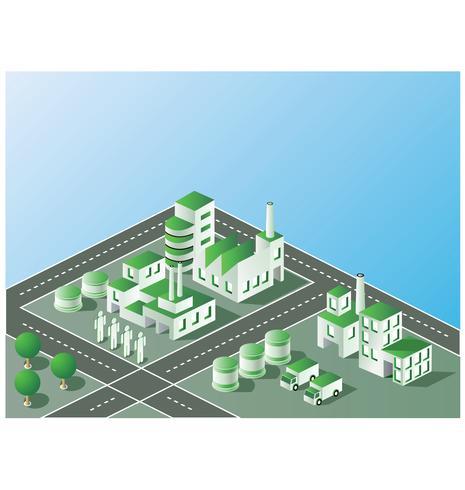Industrieanlagen vektor