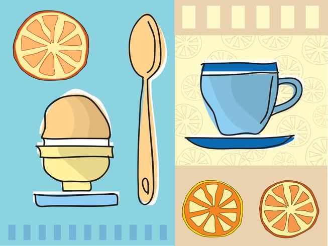 Kaffee und Frühstück vektor