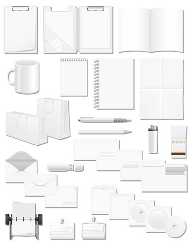 Ange ikoner vita tomma prover för företagsidentitetsdesign vektor illustration