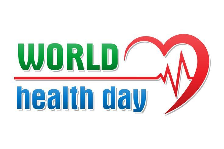 World Health Day logo text banner vektor illustration