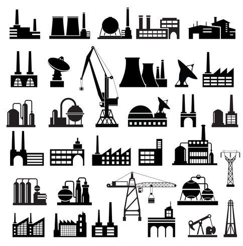 Industriebauten 2 vektor