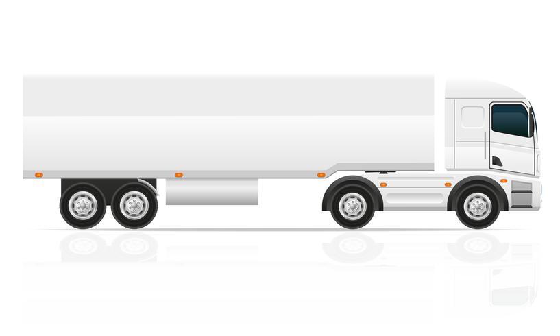 stor lastbil traktor för transport last vektor illustration