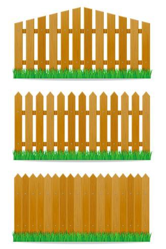 Holzzaun-Vektor-Illustration vektor