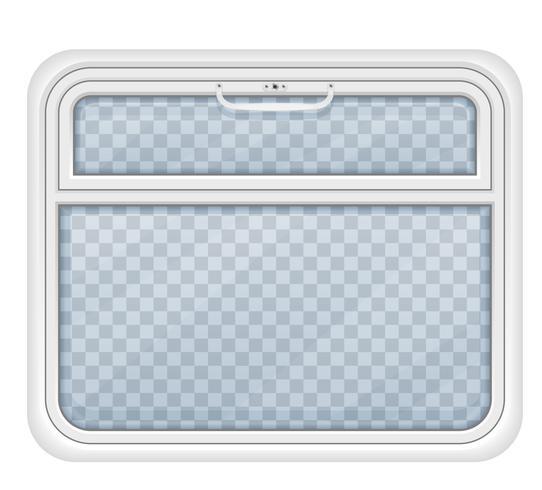 fönster i tåget fack vektor illustration