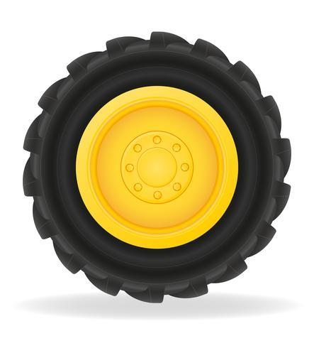 Rad für Traktor-Vektor-Illustration vektor
