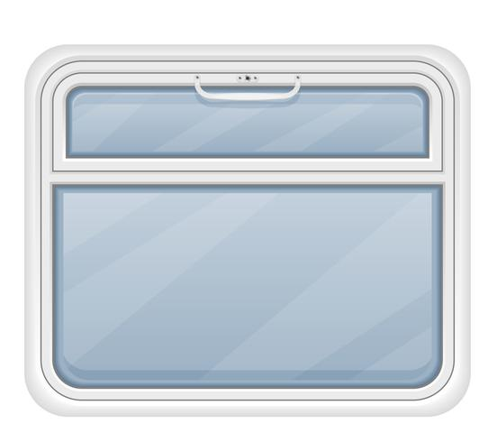 Fenster in der Zugabteil-Vektorillustration vektor