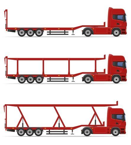 LKW halb Anhänger für den Transport von Auto-Vektor-Illustration vektor