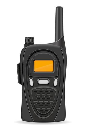 walkie-talkie kommunikationsradio vektor illustration