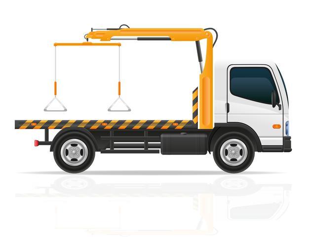 släpbil för transportfel och nödbilar vektor illustration