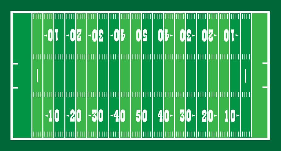 Feld für amerikanisches Fußballspiel vektor